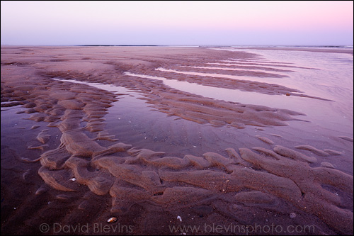 Tide Sculpted Sand Patterns